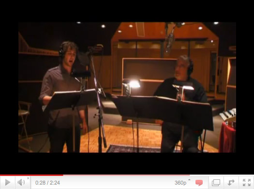 Groban and Domingo Sing from the music printed by Black Ribbon