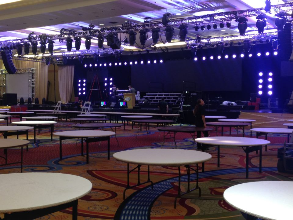 The venue during setup