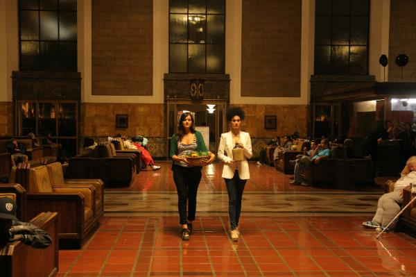 Ashley Knight and Delaram Kamareh as the Two Women