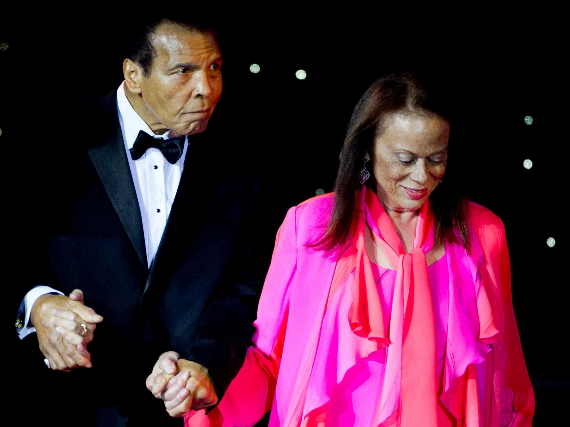 Guest-of-honor Muhammad Ali and wife, Lonnie